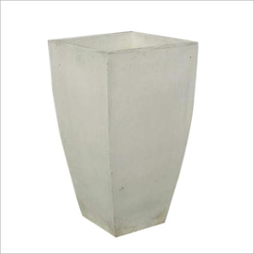 White Fiberglass Planter