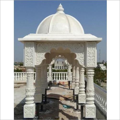White FRP Temple Sculpture