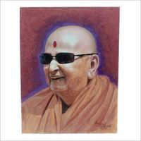 Swamiji Canvas Painting