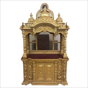 Hand Carved Wooden Temple