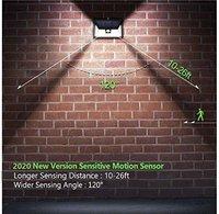 24 Led Solar Motion Sensor Security Waterproof Light