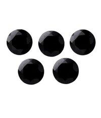 10mm Black Spinel Faceted Round Loose Gemstones