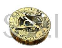 Nautical Brass Sundial Compass Round Brass Marine Sun Dial Compass