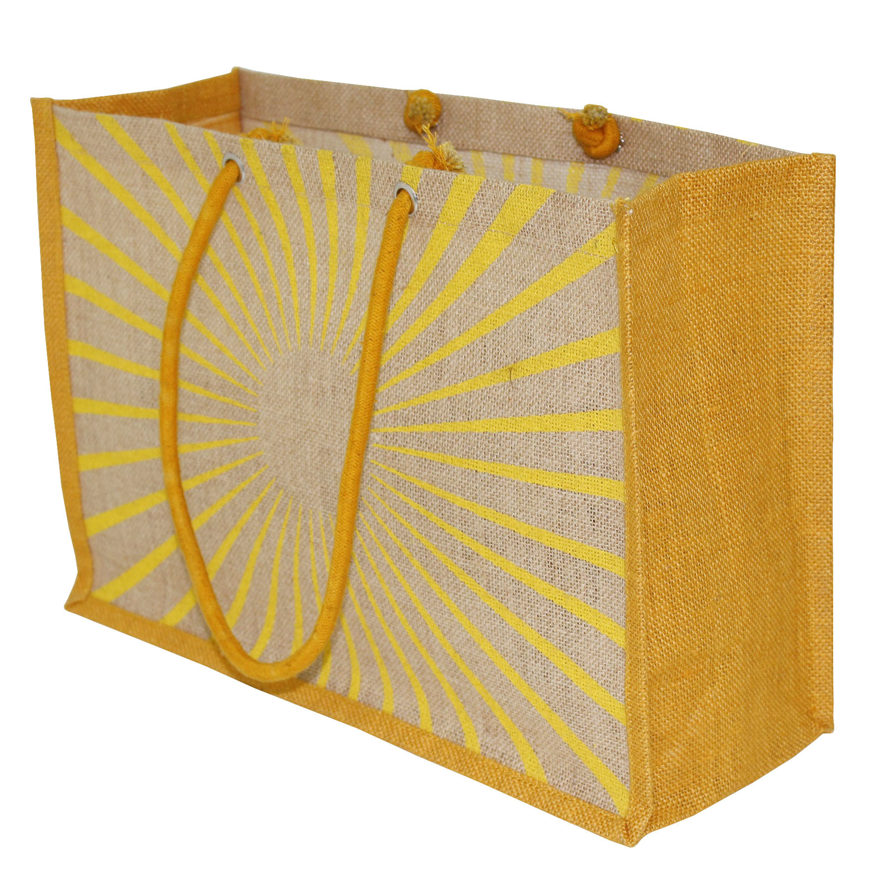 PP Laminated Jute Tote Bag With Cotton Cord Handle