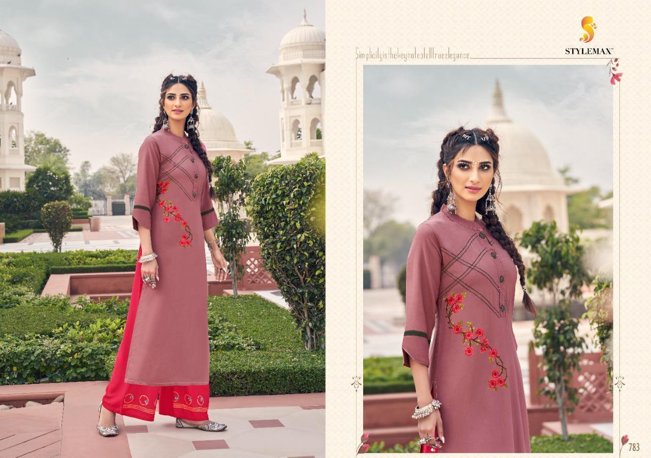Stylemax Ananya Vol 6 Rayon Kurti With Bottom Catalog