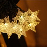 Solar Star Shaped Decorative Waterproof String Light