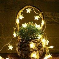 Solar Star Shaped Decorative Waterproof String Light