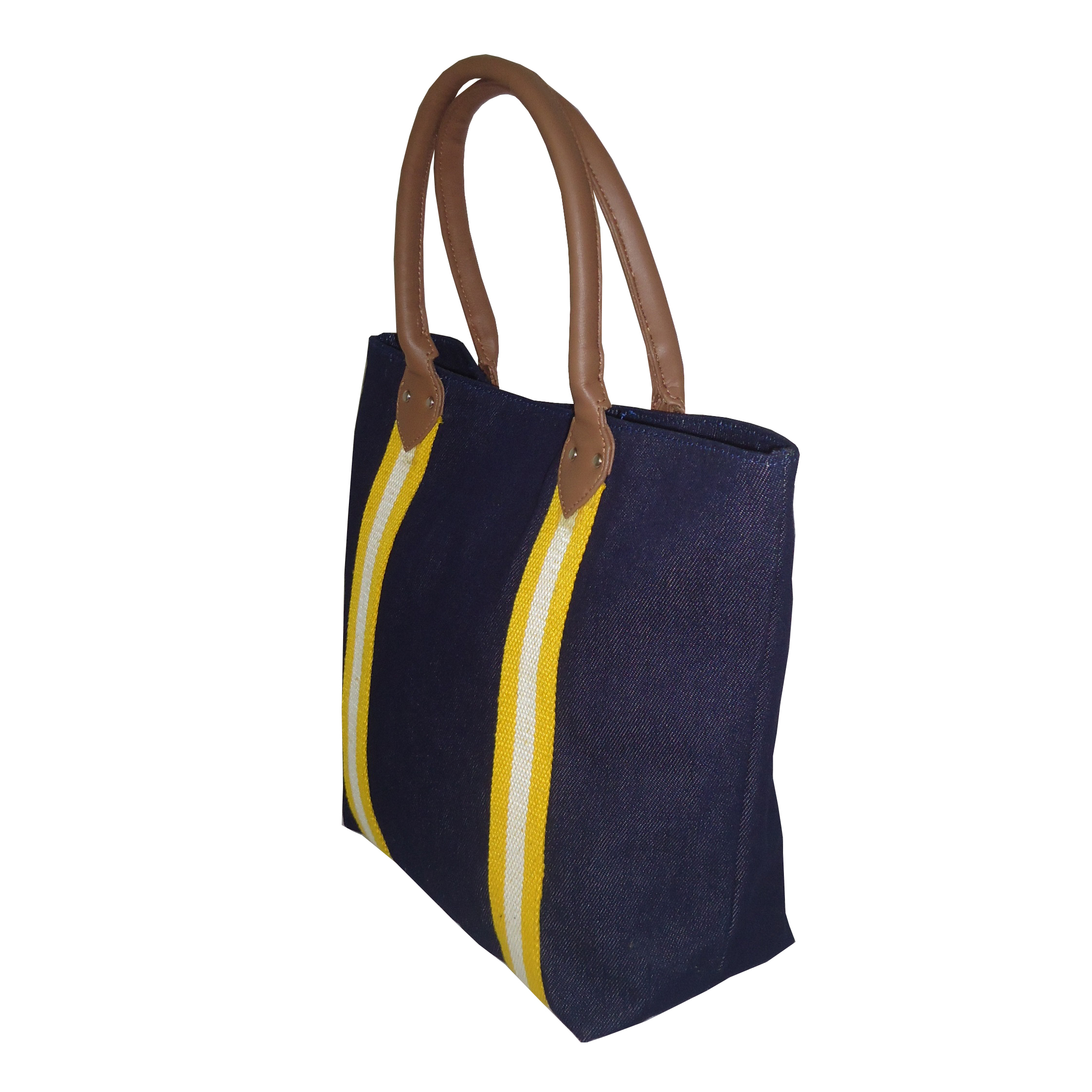 12 Oz Denim Fabric Tote Bag With Inside Polyester Lining