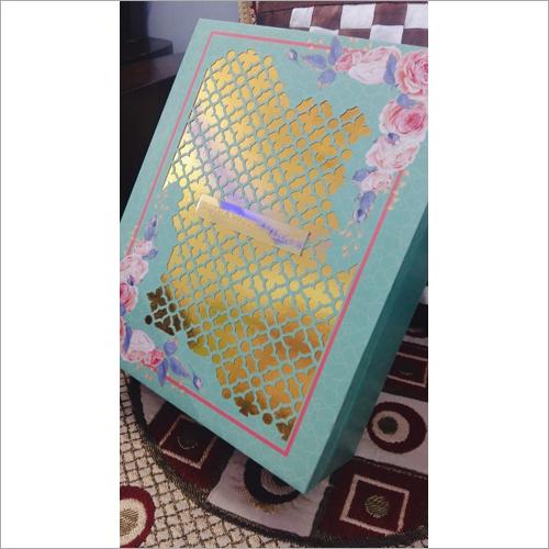 Laser Cut Wedding Card Gift Box