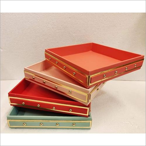Leatherette trays
