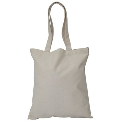 12 Oz Natural Canvas Tote Bag For Grocery Capacity: 5 Kgs Kg/Hr