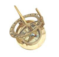 Nautical Brass Round Sundial Compass 2.25 inch