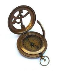 Nautical Antique Brass Sundial Compass 3 Inch