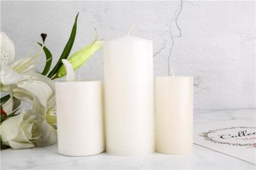 White Church Pillar Candle