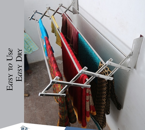 Wall Mounting SS adjustable Cloth Dryer In Avinashi