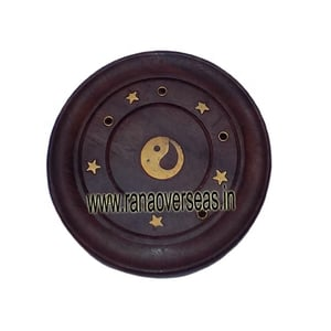 Wooden Ying Yang Shape Incense Stick Holder Agarbatti Stand