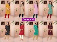 Dhyani Vol 2 Designer Rayon Printed Kurtis