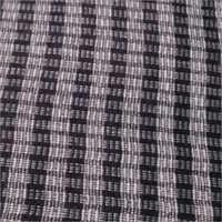 Black Small Check Lamination Fabric