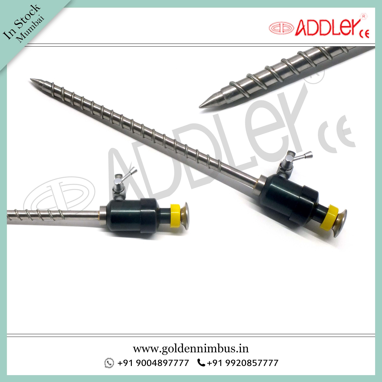 Brand New ADDLER Laparoscopic 5mm Spiral Magnet Trocar