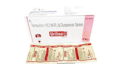 Tamsulosin HCI 0.4  (M R) and   0.5 TAB