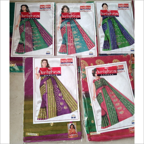 Ladies Cotton Handloom Saree