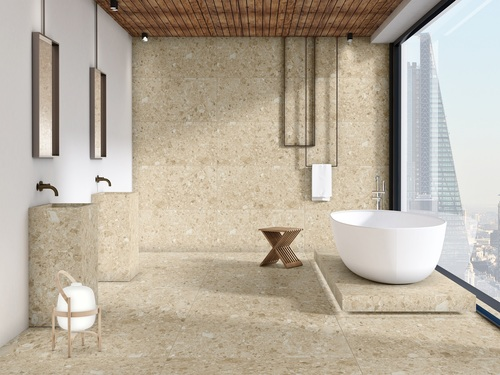 Alpha Silver Full Body Glazed Vitrified Tiles