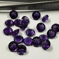 9mm African Amethyst Faceted Round Loose Gemstones