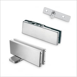 Chrome Plated Glass Door Patch
