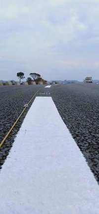 Thermoplastic Road Marking Application
