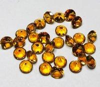 8mm Citrine Faceted Round Loose Gemstones
