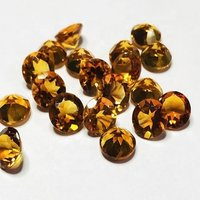 9mm Citrine Faceted Round Loose Gemstones