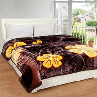 Double Bed Floral Print Mink Blanket
