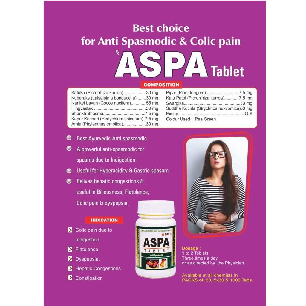 Ayursun Ayurvedic Tablet For Colic -aspa Tablet