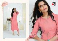 Gracia Designer Party Wear Croma Silk (Viscos Based) Kurtis