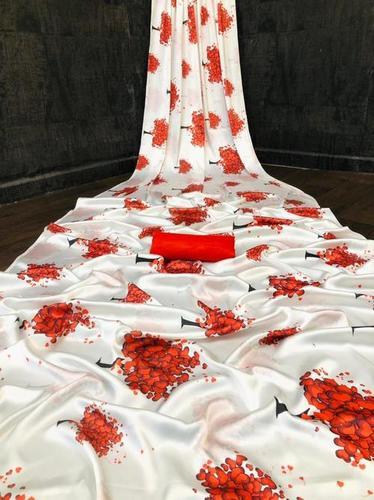 Satin Silk Printed Sarees