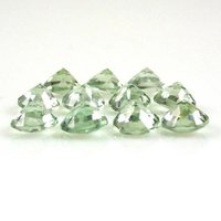 6mm Green Amethyst Faceted Round Loose Gemstones