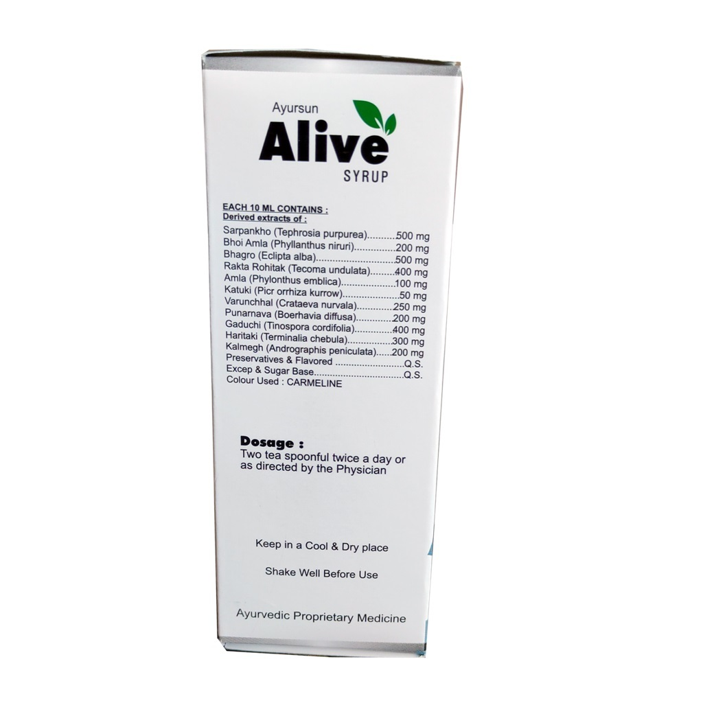 Alive Syrup (A Superior Hepatic-stimulant)