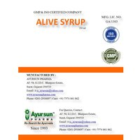 Ayurvedic Syrup For Liver Tonic-Alive Syrup