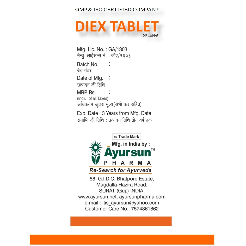 Ayursun Ayurvedic Diex Tablet For Ibs And Ibd