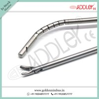 Brand New Addler Laparoscopic Needle Holder Curved Jaw And Liver Re-tractor 5mm X 330mm