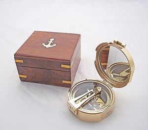 Brunton Compass 3 Inch with Wooden Box