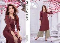 Innaya Vol 2 Designer Festival Style Chenon Silk Kurtis