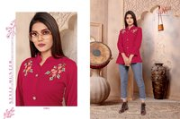 Sparsh Designer Ladies Short Top Kurtis