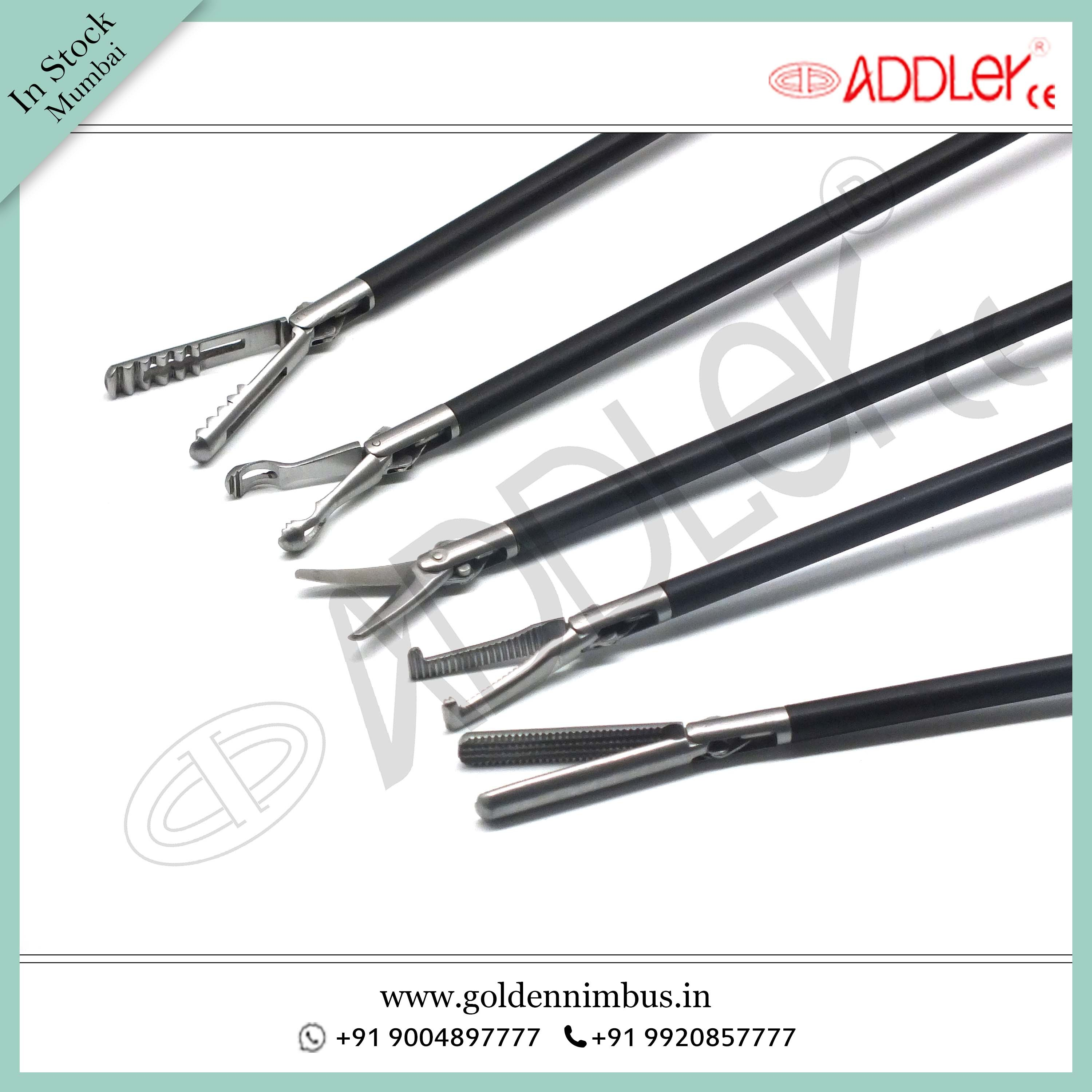 Brand New Addler Laparoscopic & Endoscopic Grasper Set Of 5