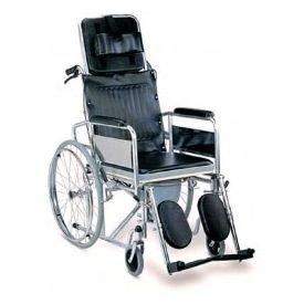 Karma Reclining Commode Wheel Chair-Rainbow 8