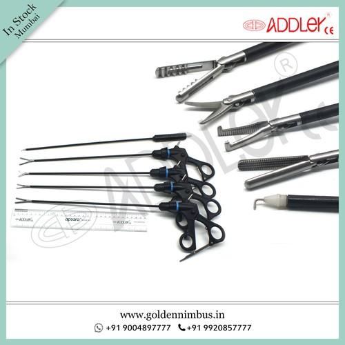 Brand New Addler Laparoscopic & Endoscopic Grasper Set Of 4 And Monopolar Hook