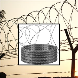 Concertina Coil And Barbed Wire