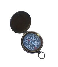 Vintage Antique Pocket Flat Compass with Lid