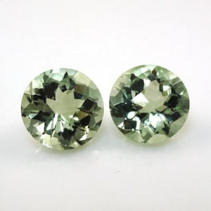 10mm Green Amethyst Faceted Round Loose Gemstones