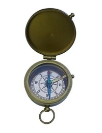 Brass Antique Pocket Compass with Copper Dial  with Lid
